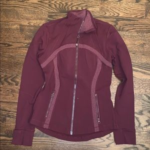 Lululemon Define Jacket - Maroon, Size 8